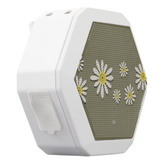 U-pick Color/ Whimsical Wildflower Daisy Sprinkles White Bluetooth Speaker