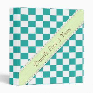 U-pick Color White Checkered Tiles 3 Ring Binder