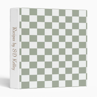 U-pick Color White Checkered Tiles Binder