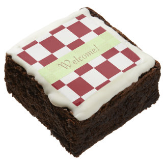 U-pick Color White Checkered Tiles Chocolate Brownie
