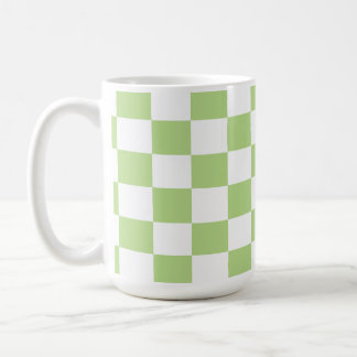 U-pick Color White Checkered Tiles Coffee Mug