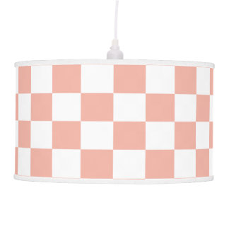 U-pick Color White Checkered Tiles Hanging Lamp