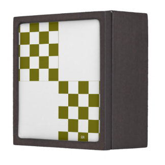 U-pick Color White Checkered Tiles Keepsake Box
