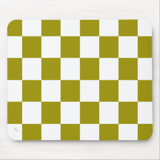 U-pick Color White Checkered Tiles Mouse Pad