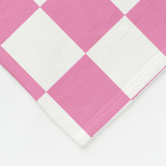U-pick Color White Checkered Tiles Personalized Fleece Blanket