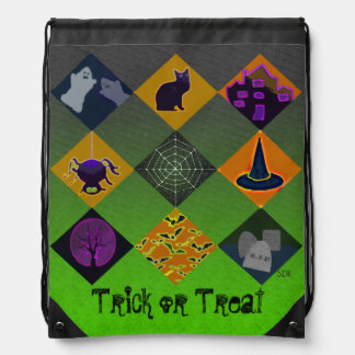 U Pick Gradient/Halloween Trick or Treat for Candy Drawstring Bag