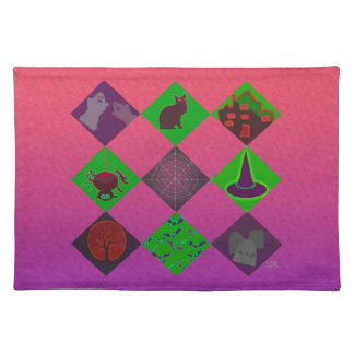 U Pick Gradient/Halloween Trick or Treat for Candy Placemats