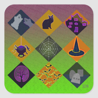 U Pick Gradient/Halloween Trick or Treat for Candy Square Sticker