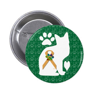 U-pick the Color/Animal Cruelty Prevention Ribbon 2 Inch Round Button