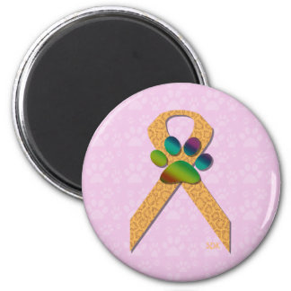 U-pick the Color/Animal Cruelty Prevention Ribbon 2 Inch Round Magnet