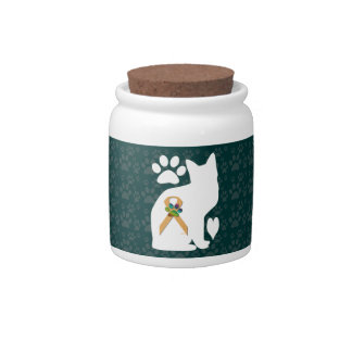 U-pick the Color/Animal Cruelty Prevention Ribbon Candy Jars