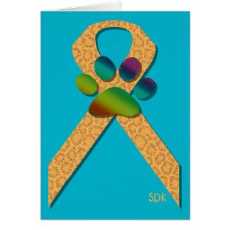 U-pick the Color/Animal Cruelty Prevention Ribbon Card