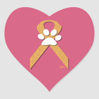 U-pick the Color/Animal Cruelty Prevention Ribbon Heart Sticker