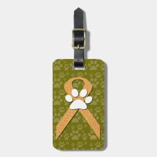 U-pick the Color/Animal Cruelty Prevention Ribbon Luggage Tag