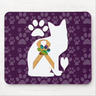 U-pick the Color/Animal Cruelty Prevention Ribbon Mouse Pad