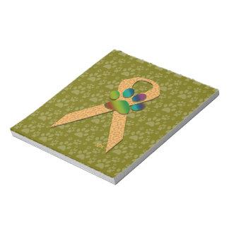 U-pick the Color/Animal Cruelty Prevention Ribbon Memo Notepad
