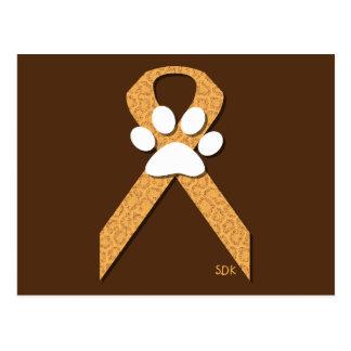 U-pick the Color/Animal Cruelty Prevention Ribbon Postcard