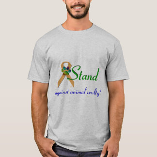U-pick the Color/Animal Cruelty Prevention Ribbon T-Shirt