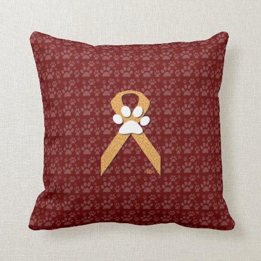 Down Pillows Animal Cruelty : U-pick the Color/Animal Cruelty Prevention Ribbon Throw Pillow Zazzle