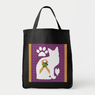 U-pick the Color/Animal Cruelty Prevention Ribbon Tote Bag