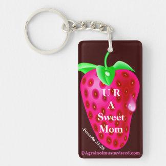 U R A Sweet Mom Mother's Day Keychain