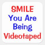 U R Being Watched! Square Sticker