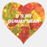U R mis pegatinas gomosos del oso