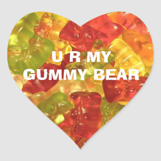 U R mis pegatinas gomosos del oso Calcomanía De Corazón