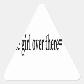 U R The Girl Triangle Sticker