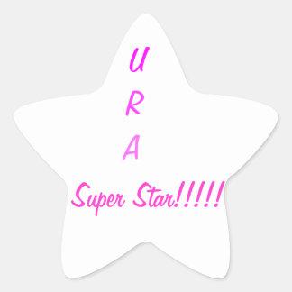 U R una estrella estupenda Pegatina En Forma De Estrella