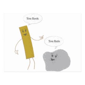 U Rock - U Rule Postcard