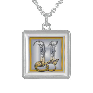 U Royal Initial Monogram Necklace