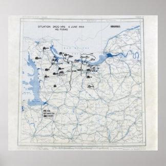 U.S. 12mo Mapa de la posición del ejército en 2400 Impresiones