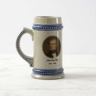 U.S.A. 11th President (Collectable Mug) 18 Oz Beer Stein