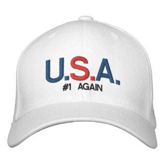 U.S.A #1 AGAIN -CUSTOMIZABLE CAP by eZaZZleMan.com