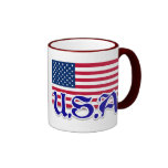U.S.A. American Apparel and Memorabilia Coffee Mugs