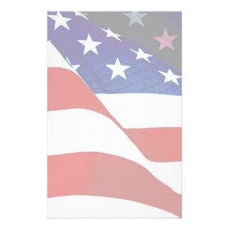 U.S.A. Bandera Papeleria Personalizada