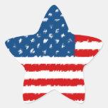U.S.A. Bandera Pegatina En Forma De Estrella