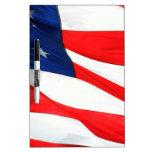 U.S.A. Bandera Pizarra Blanca