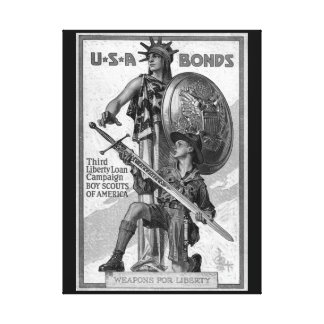 U*S*A Bonds/Third Liberty Loan_War image Canvas Print