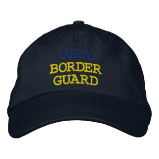 U.S.A. BORDER GUARD EMBROIDERED BASEBALL CAPS
