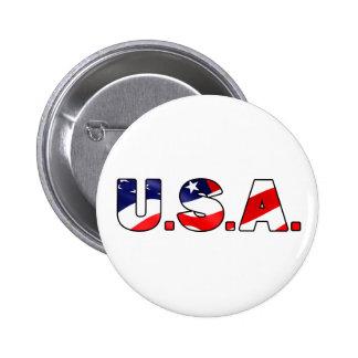 U.S.A. botón Pin Redondo De 2 Pulgadas