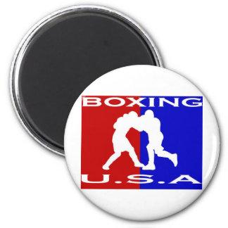 U.S.A. Boxeo logo.jpg Imán Redondo 5 Cm