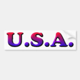 U.S.A. BUMPER STICKER