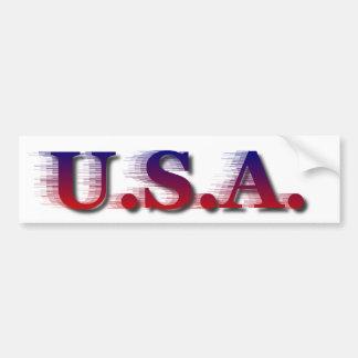 U.S.A. Bumpersticker Pegatina Para Auto