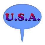 U.S.A. CAKE TOPPERS