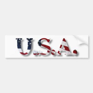 U.S.A. CAR BUMPER STICKER