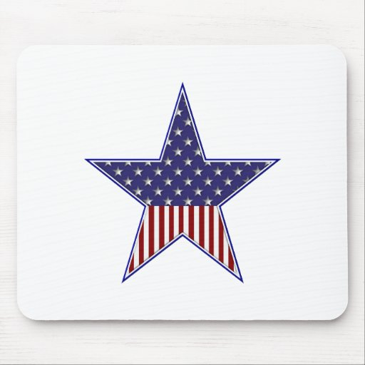 U.S.A. Diseño patriótico de la bandera Mousepads