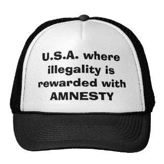 U.S.A. donde la ilegalidad se recompensa con Gorras
