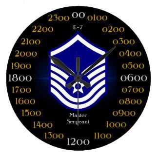 U.S.A.F./sargento mayor mayor E-7 Reloj Redondo Grande